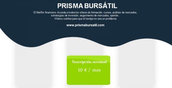 Foto y datos de prisma bursátil