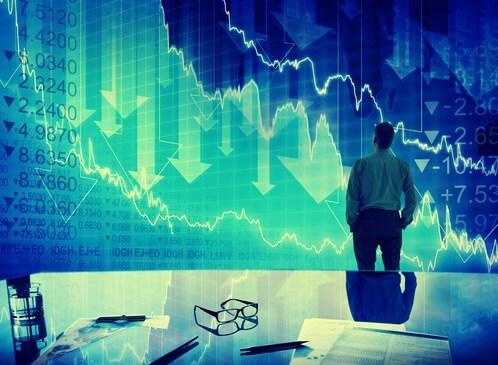 Foto del mercado cayendo tras llegar a una resistencia